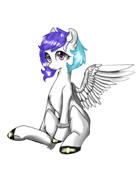 Size: 1756x2257 | Tagged: safe, artist:twid, oc, oc only, oc:twid, pegasus, 2020 community collab, derpibooru community collaboration, electricity, female, looking at you, mare, simple background, sitting, solo, spread wings, transparent background, wings