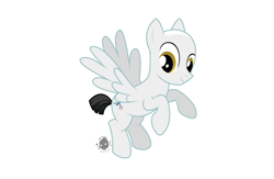 Size: 6400x4176 | Tagged: safe, artist:bdromeart, mercury, milky way, starry eyes (character), alternate hairstyle, bald, cropped tail, cute, flying, happy, male, no mane, shaved, shaved head, shaved mane, solo, stallion, story, story in the source, story included, what if