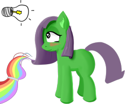 Size: 4654x3900 | Tagged: safe, artist:poniidesu, oc, oc:dock, oc:paint drops, /mlp/, cute, doodle, drawthread, duo, female, filly, light bulb, magic, ocbetes, simple background, tail, transparent background, wip