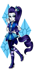 Size: 726x1500 | Tagged: safe, artist:nekojackun, rarity, equestria girls, clothes, commission, crystal guardian, cute, digital art, female, ponied up, raribetes, smiling, solo