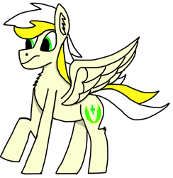 Size: 1695x1739 | Tagged: safe, artist:nutking, oc, oc:white waters, pegasus, solo, wings