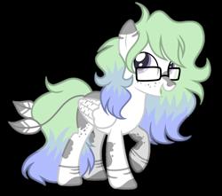 Size: 1280x1131 | Tagged: safe, artist:mintoria, oc, oc:aura, pegasus, pony, female, glasses, mare, simple background, solo, transparent background
