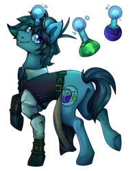 Size: 1101x1400 | Tagged: safe, artist:cinnamonsparx, oc, pony, unicorn, clothes, goggles, magic, male, simple background, solo, stallion, transparent background