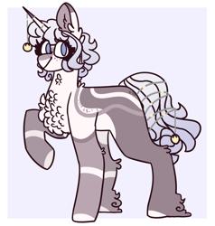 Size: 1419x1488 | Tagged: safe, artist:luqella, oc, oc:hye-jung, pony, unicorn, chest fluff, female, mare, solo