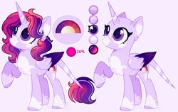 Size: 4045x2553 | Tagged: safe, artist:sh3llysh00, oc, oc:royal sunset, alicorn, pony, bald, female, magical lesbian spawn, mare, offspring, parent:pinkie pie, parent:twilight sparkle, parents:twinkie, solo