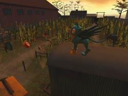 Size: 1024x768 | Tagged: safe, artist:horsesplease, gallus, galarian ponyta, ponyta, 3d, alarm clock, clock, crowing, gallus the rooster, gmod, pokémon