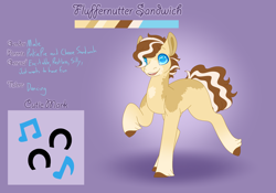 Size: 3500x2454   Tagged: safe, artist:clay-bae, oc, oc:fluffernutter sandwich, earth pony, pony, male, offspring, parent:cheese sandwich, parent:pinkie pie, parents:cheesepie, solo, stallion