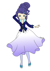 Size: 2480x3508   Tagged: safe, artist:onlymeequestrian, rarity, human, equestria girls, alternate hairstyle, humanized, solo