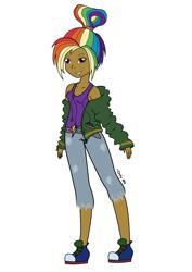 Size: 2480x3508   Tagged: safe, artist:onlymeequestrian, rainbow dash, human, equestria girls, humanized, solo