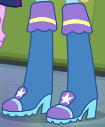 Size: 696x840 | Tagged: safe, screencap, trixie, equestria girls, equestria girls (movie), boots, cropped, shoes, solo focus