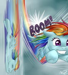 Size: 2293x2500   Tagged: safe, artist:zellcius, rainbow dash, fast, flying, happy, sky, smiling
