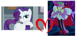 Size: 737x361   Tagged: safe, rarity, spike, female, male, shipping, shipping domino, sparity, straight