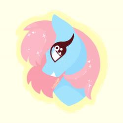 Size: 4724x4724 | Tagged: safe, artist:livzkat, oc, oc:dipper, bust, lineless, my little pony, sparkly