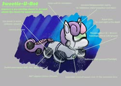 Size: 1920x1358 | Tagged: safe, artist:lizardwithhat, sweetie belle, pony, robot, robot pony, aquatic, diving, submarine, sweetie bot, swimming