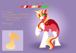 Size: 3500x2454 | Tagged: safe, artist:clay-bae, oc, oc:kindle sparks, classical unicorn, pony, unicorn, body freckles, female, freckles, leonine tail, mare, offspring, parent:big macintosh, parent:sunset shimmer, parents:shimmermac, solo, unshorn fetlocks