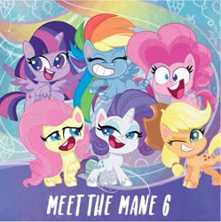 Size: 929x931 | Tagged: safe, applejack, fluttershy, pinkie pie, rainbow dash, rarity, twilight sparkle, alicorn, earth pony, pegasus, pony, my little pony: pony life, discussion in the comments, drama in the comments, mane six, official, twilight sparkle (alicorn)