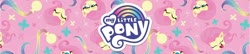 Size: 1858x400 | Tagged: safe, fluttershy, pegasus, pony, my little pony: pony life, my little pony logo, official, solo