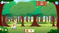 Size: 1334x750   Tagged: safe, cloud kicker, pegasus, pony, apple, food, gameloft, sweet apple acres