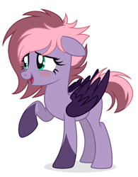 Size: 2277x2919 | Tagged: safe, artist:lazuli, artist:rioshi, artist:starshade, oc, oc only, pegasus, pony, adoptable, female, mare, simple background, smiling, solo, white background