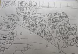 Size: 3139x2155 | Tagged: safe, artist:徐詩珮, apple bloom, fizzlepop berrytwist, glitter drops, scootaloo, spring rain, sweetie belle, tempest shadow, twilight sparkle, alicorn, unicorn, series:sprglitemplight diary, series:sprglitemplight life jacket days, series:springshadowdrops diary, series:springshadowdrops life jacket days, alternate universe, bisexual, broken horn, clothes, cute, cutie mark crusaders, female, glitterbetes, glitterlight, glittershadow, horn, lesbian, lifeguard, lifeguard spring rain, lifejacket, paw patrol, polyamory, shipping, snorkeling, sprglitemplight, springbetes, springdrops, springlight, springshadow, springshadowdrops, swimming, swimsuit, tempestbetes, tempestlight, twilight sparkle (alicorn)
