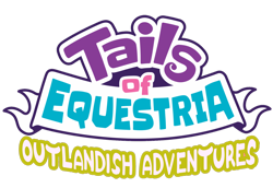 Size: 1600x1100 | Tagged: safe, artist:chedx, oc, comic:toe outlandish adventures, tails of equestria, comic, fanfic, fantasy, logo, simple background, transparent background