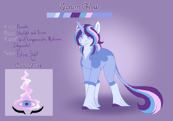 Size: 3500x2454 | Tagged: safe, artist:clay-bae, oc, oc:saturn glow, pony, unicorn, female, magical lesbian spawn, mare, offspring, parent:starlight glimmer, parent:trixie, parents:startrix, solo