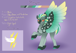 Size: 3500x2454 | Tagged: safe, artist:clay-bae, oc, oc:hotspot, pegasus, pony, magical gay spawn, male, offspring, parent:thunderlane, parent:zephyr breeze, parents:zephyrlane, solo, stallion