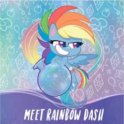 Size: 601x600   Tagged: safe, edit, edited screencap, screencap, rainbow dash, pegasus, pony, my little pony: pony life, backwards cutie mark, solo
