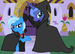 Size: 756x540 | Tagged: safe, edit, edited screencap, screencap, princess luna, trixie, cropped