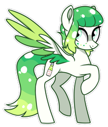 Size: 1374x1610   Tagged: safe, artist:koloredkat, oc, oc only, pegasus, pony, female, freckles, mare, raised hoof, simple background, solo, transparent background, two toned wings, wings