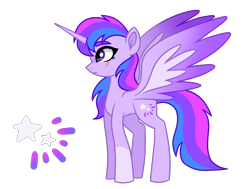 Size: 2317x1755 | Tagged: safe, artist:koloredkat, oc, oc only, oc:astral, alicorn, pony, alicorn oc, eye scar, female, magical lesbian spawn, mare, offspring, parent:rainbow dash, parent:twilight sparkle, parents:twidash, reference sheet, scar, simple background, solo, story included, transparent background