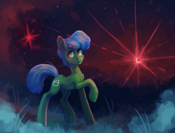 Size: 1574x1200   Tagged: safe, artist:koviry, oc, oc only, earth pony, pony, moon, solo