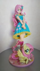 Size: 2304x4096 | Tagged: safe, kotobukiya, fluttershy, human, pegasus, pony, clothes, dress, figure, figurine, humanized, moe