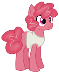 Size: 926x1152 | Tagged: safe, artist:rainbow eevee, earth pony, eraser pony, object pony, original species, pony, battle for bfdi, battle for dream island, bfb, bfdi, clothes, eraser, eraser (bfb), implied pinkie pie, male, pink eyes, ponified, simple background, solo, tanktop, transparent background