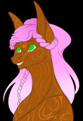 Size: 2368x3466   Tagged: safe, artist:amcirken, oc, oc:cherri, earth pony, pony, bust, female, mare, portrait, simple background, solo, transparent background