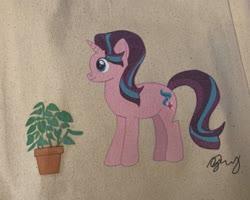 Size: 2048x1642   Tagged: safe, artist:monsieurzim, phyllis, starlight glimmer, pony, unicorn, traditional art