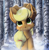 Size: 1848x1876 | Tagged: safe, artist:hitbass, applejack, earth pony, pony, cheek fluff, cute, female, forest, hat, jackabetes, mare, open mouth, snow, snowfall, solo, solo female, tree, winter