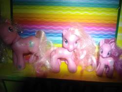 Size: 1280x960 | Tagged: safe, artist:user15432, pinkie pie, pinkie pie (g3), earth pony, pony, g3, g3.5, g4, generation leap, irl, photo, pony toy, real world, toy