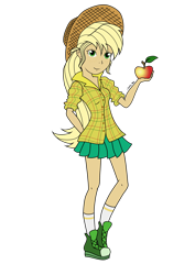 Size: 2480x3508 | Tagged: safe, artist:onlymeequestrian, applejack, human, equestria girls, humanized, simple background, solo, transparent background