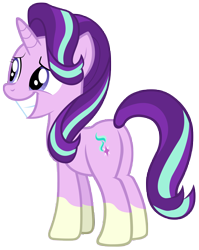 Size: 7000x8800 | Tagged: safe, artist:tardifice, edit, editor:slayerbvc, vector edit, starlight glimmer, unicorn, celestial advice, absurd resolution, butt, female, glimmer glutes, mare, plot, ponies wearing sunburst's socks, sheepish grin, simple background, socks (coat marking), solo, transparent background, vector