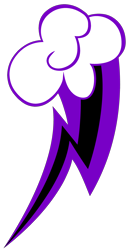 Size: 1836x3512 | Tagged: safe, artist:theironheart, oc, oc:purple bolt, cloud, cutie mark, cutie mark only, lightning, no pony, simple background, transparent background