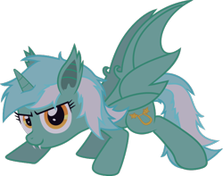 Size: 531x419 | Tagged: safe, artist:lincolnbrewsterfan, lyra heartstrings, bat pony, unicorn, .svg available, archive, bat ponified, changed cutie mark, lyrabat, race swap, simple background, solo, svg, transparent background, vector