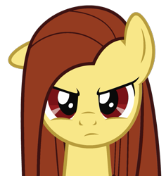 Size: 619x655 | Tagged: safe, artist:theironheart, oc, oc only, oc:iron heart, earth pony, pony, bust, earth pony oc, frown, recolor, simple background, solo, transparent background