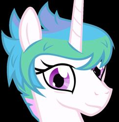 Size: 670x686 | Tagged: safe, artist:the smiling pony, princess celestia, pony, derpibooru, .svg available, alternate hairstyle, derpibooru badge, female, mare, meta, simple background, solo, svg, transparent background, vector