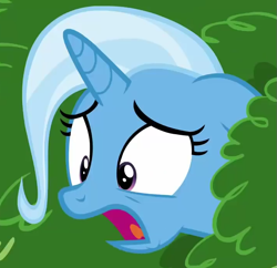 Size: 715x691 | Tagged: safe, edit, trixie, pony, unicorn, all bottled up, cropped, female, floppy ears, mare, open mouth