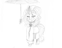 Size: 2388x1850 | Tagged: safe, artist:flotsam, oc, oc only, oc:pristine silk, clothes, umbrella