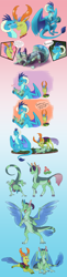 Size: 2162x8916 | Tagged: safe, artist:fable-life, princess ember, thorax, oc, oc:orchid, changedling, changeling, dragon, hybrid, alternate design, cutie mark, dialogue, dragoness, egg, embrax, family, female, gradient background, hair, hatching, interspecies offspring, king thorax, male, motherly, offspring, parent:princess ember, parent:thorax, parents:embrax, shipping, speech, speech bubble, straight, varying degrees of want