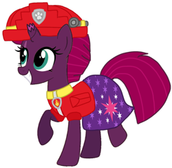 Size: 1104x1073 | Tagged: safe, artist:徐詩珮, fizzlepop berrytwist, tempest shadow, unicorn, series:sprglitemplight diary, series:sprglitemplight life jacket days, series:springshadowdrops diary, series:springshadowdrops life jacket days, alternate universe, base used, broken horn, clothes, cute, horn, paw patrol, simple background, swimsuit, transparent background, vector