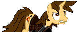 Size: 13389x5554 | Tagged: safe, artist:ejlightning007arts, oc, oc:ej, unicorn, angry, clothes, furious, gritted teeth, male, simple background, stallion, transparent background, vector