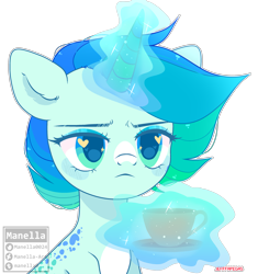 Size: 2808x2992 | Tagged: safe, artist:manella-art, oc, oc:lemon, base used, cup, female, heart eyes, magic, mare, simple background, solo, teacup, transparent background, wingding eyes